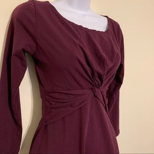 Synergy Organic Clothing Purple Faux Wrap Dress